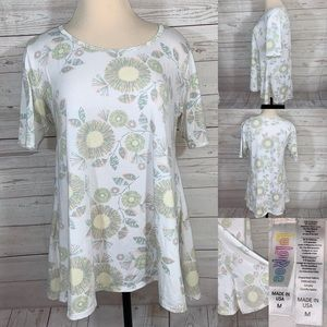 Lularoe Perfect tee size M white/floral color